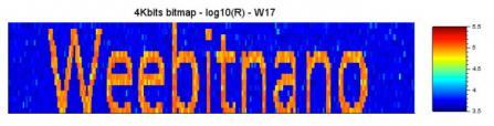 Data saved in Weebit Nano's 300nm 4Kbit array (Reset cells in orange)